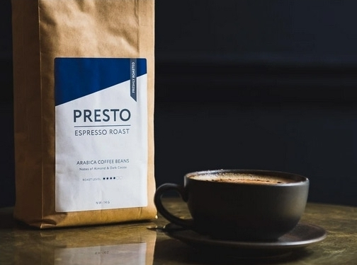 https://presto-coffee.com/ website